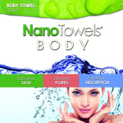 Nano Towels Body Bath & Shower Towel. Huge & Super Absorbent. Wipes Away Dirt, Oil and Cosmetics. Use As Your Sports, Travel, Fitness, Kids, Beauty, Spa Or Salon Luxury Towel. 80cm x 140cm .