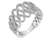 Shared Prong Set infinity Fancy Diamond Wedding Ring in 18K Gold