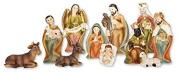Christmas NATIVITY SET/HOLY FAMILY Gloria Angel 11 Figures 7cm Resin Christmas Gift...