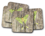 Butterfly Drinks Coasters - set of 4 drinks mats ideal new home present or housewarming gift