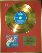THE LITTLE MERMAID - Ltd Edition CD 24 Carat Coated Gold Disc - Original Walt Disney Soundtrack