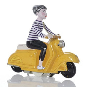 Scooter Girl, wind-up Scooter, yellow - Nostalgic Tin Toy