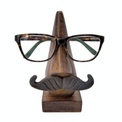Stylla London Reading Glass Holder Handmade Nose Nud Lips Whiskers Shape Wooden Spectacle Sunglasses Glasses holder Stand Unique Christmas Gift
