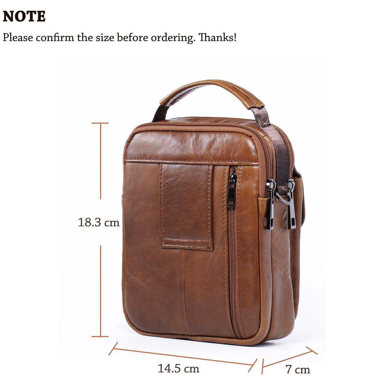 3e703af1bc Hengying Men Leather Shoulder Bag Small Cross Body Bag Handbag ...