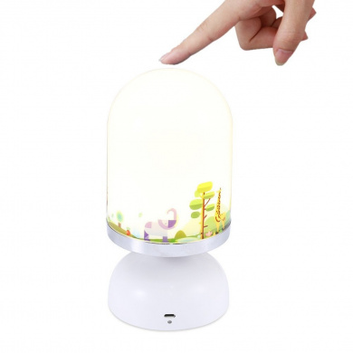 SUPERSWK LED Touch Sensor Dimmable Night Light with Softlight, Stronglight, 10-Minute Turn Off Timer, USB Rechargeable Nightlight Lamp for Baby Rooms, Kids and Adults Bedroom, Nursery, Outdoor (zoo)