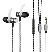 ZIOFEN® Earphone Sport-borne Sound Isolating Headphones In-ear Enhanced Bass Earbuds with Volume Control and Microphone for iPhone iPad iPod for for for for for for for for for Samsung Galaxy Smartphone and MP3 Music Player