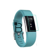 Interesting® Clear LCD TPU Screen Protector Cover Guard for FitBit Charge 2