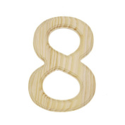 15cm Blank Unfinished Wooden Number 8