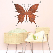3D Style Broken Wall Butterfly Wall Sticker Paper Home Decal Removable Living Dinning Room Bedroom Kitchen Art Picture Murals Girls Boys kids Nursery Baby Decoration