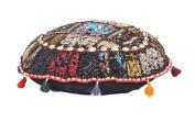 Antique Comfortable Floor Cotton Foot Stool Handmade Patchwork Ottoman Pouffe Cover