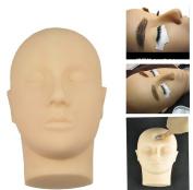 Rubber Practise Mannequin Manikin Head Eyelashes Makeup Massage Practise