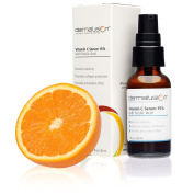 Dermafusion Vitamin C Serum for Face with Hyaluronic Acid + Ferulic Acid. Enhanced Vit C + E Formula for Anti-Ageing Anti-Wrinkle Treatment. Reduces Acne, Dark Spots & Sun Damage, Spray