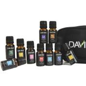 10 Essential Oil Set (5 Singles 5 Artisan Blends) 100% Pure, Therapeutic Grade of Frankincense, Lavender, Peppermint, Lemon, Tea Tree, Immunity, Respiratory, Sore Muscle, Liquid Sunshine & Tummy Tamer