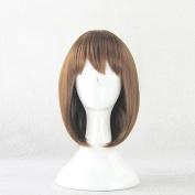 DuRaRaRa! Orihara Mairu Brown Straight 35cm Short Cosplay Wig