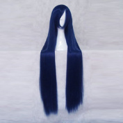 Future Diary Kasugano Tsubaki Dark Blue Long 100cm Cosplay Wig + Free Wig Cap