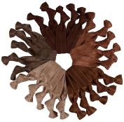 Brown Brunette Hair Ties Mega Pack 25 Ponytail Holders by Cyndibands