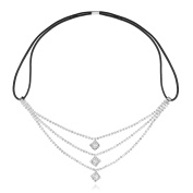 LY8 Fashion Women Silver Tone Crystal Art Deco Bridal Hairband Headband Wedding Accessory