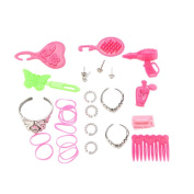 u-hoMEy 42 Pcs Mixed Vintage & Modern Doll Accessories Shoes For Barbie Doll