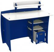 Legare Kids Furniture 110cm Complete Desk System with File Cart, Blue and White