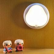 Modern decorative wall lamp Battery Energy Smart LED infrared body sensors Nightlight hallway hallway cupboard , 0.3-yellow