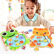 Diamondo Baby Kids Magnetic Fishing Game Board Wooden Jigsaw Puzzle Toys
