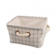 Foerteng Cotton Waterproof Storage Basket Collapsible Convenient Storage Bags for Home Vegetable Closet Toys Laundry