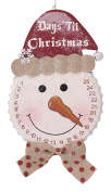 Glitzhome Iron Bottle Cap Snowman Countdown Wall Decor