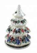 Polish Pottery Holiday Flower Medium Christmas Tree Luminary