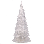 Samber Acrylic Colourful Crystal Christmas Tree Nightlight Christmas Decorations with 7 Colours Changing