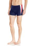 Speedo Men's PowerFLEX Eco Fitness Splice Square Leg Swimsuit