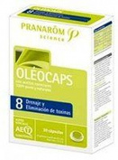 Oleocaps 8 Drainage and removes Toxins 30 Capsules of Pranarom