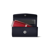 Lucrin - Lipstick Holder - Navy Blue - Smooth Leather