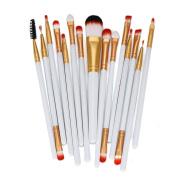 Kwok Brush,15pcs Makeup Brush Set tools Make-up Toiletry Kit Wool Make Up Brush Set