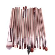 Makeup Brush Set,Neartime 15 pcs Eye Shadow Foundation Eyebrow Lip Brushes Beauty Brush Tool