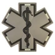 ACU Grey EMS EMT Medic Paramedic Star of Life Morale Tactical PVC 3D Hook-and-Loop Patch
