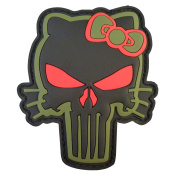 Olive Drab OD Punisher Hello Kitty PVC Rubber 3D Morale Tactical Touch Fastener Patch