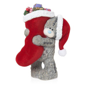 Me To You Tatty Teddy Figurine Decoration Gift Idea Christmas Teddy Holding Christmas Stocking