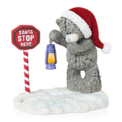 Me To You Tatty Teddy Figurine Decoration Gift Idea Christmas Santa Stop Here Snow