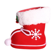 Andux Christmas Decorations Children's Gifts Candy Boots Small Gift Bags Christmas Sweeties Boots Holiday Christmas Socks ETTGX-01