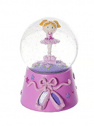 Musical Ballerina Snow Globe Ornament with Swan Lake Music Box Ballet Gift forGirls
