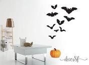 Halloween Bats sticker black self adhesive vinyl- A3 size 18 bats - fridge / car / wall / kitchen / bedroom bats stickers