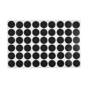 sourcingmap 21mm Dia Furniture Self-adhesive Screw Hole Stickers Covers Mat Matte 54 in 1 Black