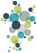 CEP Dots Sticker, Grey/Blue/Green