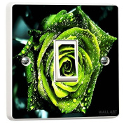 Green Rose with Dew Light Switch Sticker skin cover decal