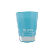 Large Fragranced Candle Glass Blue Water