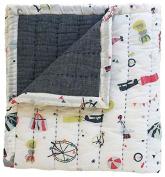 Pehr Designs Big Top Quilted Blanket, Blue