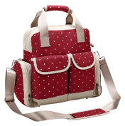 Furivy Multifunctional Baby Nappy Nappy Backpack Mummy Shoulder Bag Crossbody Bag Hand Bag Red