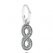 Authentic NEW Pandora INFINITY Dangle charm 791351CZ~S925 Ale with Cubic Zirconia