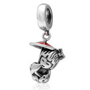 Japanese Girl Charm 925 Sterling Silver Child Charm Dangle Charm Birthday Charm for Pandora Bracelet