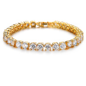 T-PERFECT LIFE 24K Gold-plated Element AAA Cubic Zirconia Bracelet for Women Elegent Crystals Wedding Jewellery